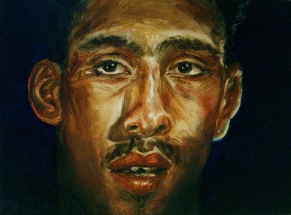 Boris Torres, (New York, USA), Midnite, Oil on Canvas, 9 x 12 inches, 2011,