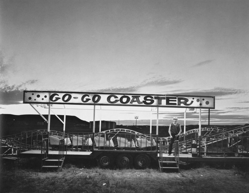 Randal Levenson (Miami, USA), In Search of the Monkey Girl, 'Go-Go Coaster', Inland Empire, Shelby, Montana, 1976. Vintage Print from Original Negative on Portriga Rapid 111 Double Weight Glossy Paper.