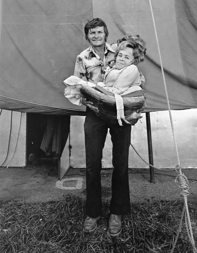 Randal Levenson (Miami, USA), In Search of the Monkey Girl, Barbara Bennett, World's Smallest Mom and Ed Bennett, Ohio, 1976. Vintage Print from Original Negative on Portriga Rapid 111 Double Weight Glossy Paper.