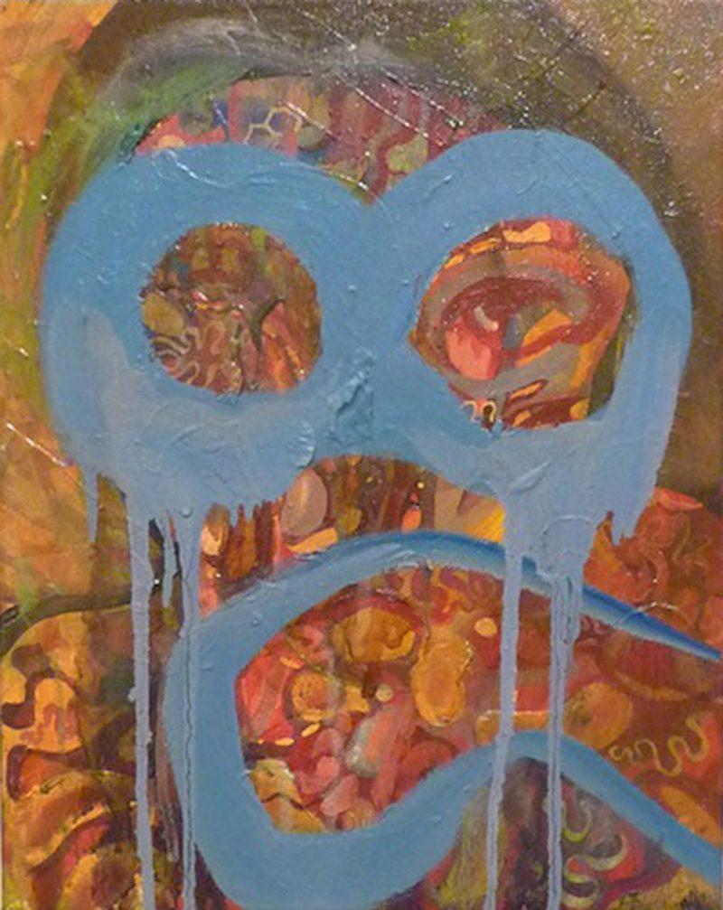 Alexis Boyle (Toronto, Canada), Still Smoking, Acrylic on canvas, 11 x 14 inches, 2011, $350