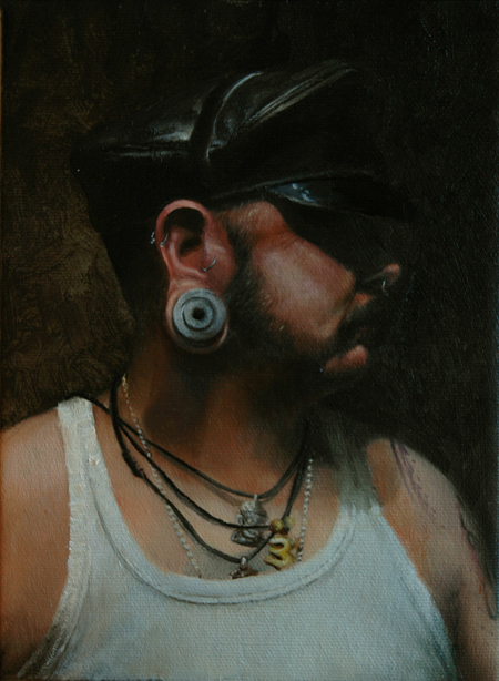 James Huctwith (Toronto, Canada), L.J., Oil on Canvas, 6 x 8 inches, 2009. Gallery Collection.