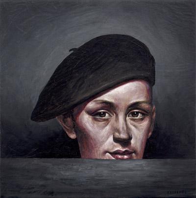 Francois Escalmel (Montreal, Canada), The Aristocrat, Oil on canvas, 2013, 10 x 10 inches, $300
