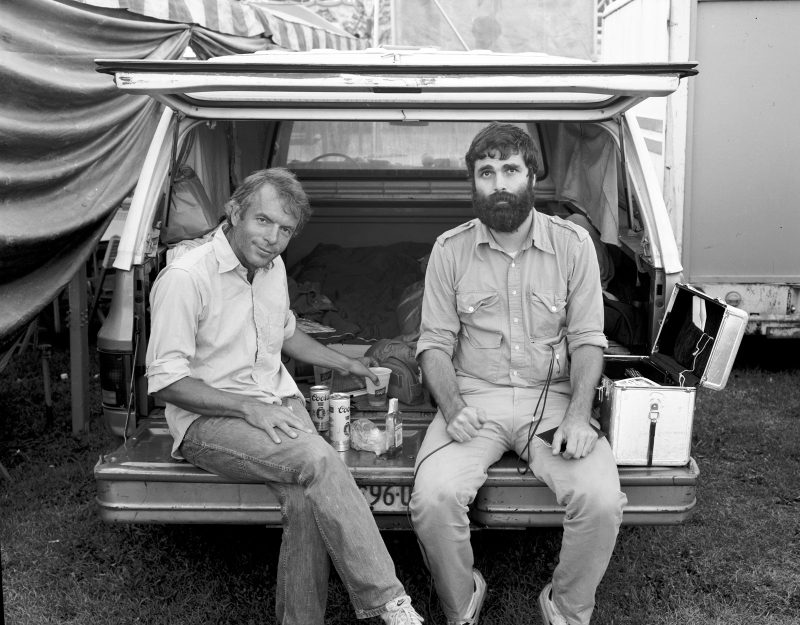 Cocktail Hour, Tennessee State Fair, 1981, Randal Levenson & Spalding Gray, In Search of the Monkey Girl. Digital Print .