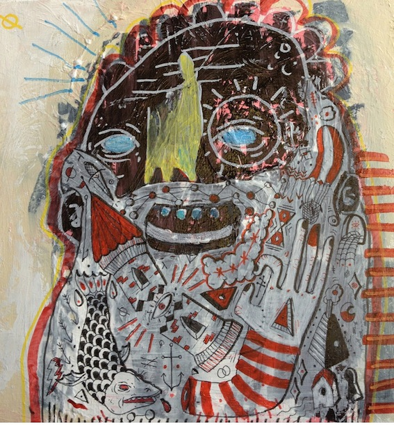 Trouble Within, 2012, Mixed Media on Board, 30 X 30 cm, $400