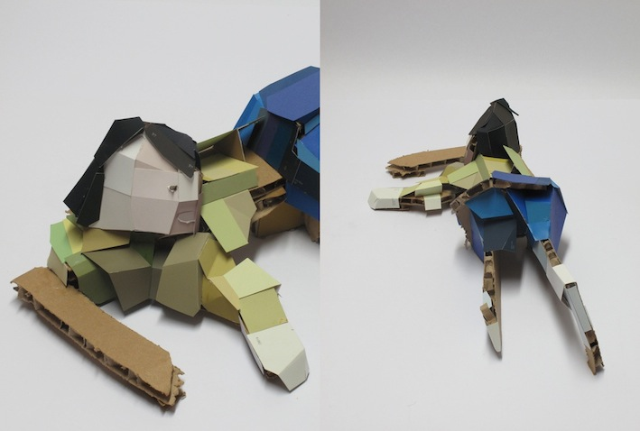 Untitled, 2010, Cardboard Coloured Sheets, 45 x 22 x 15 cm, NFS