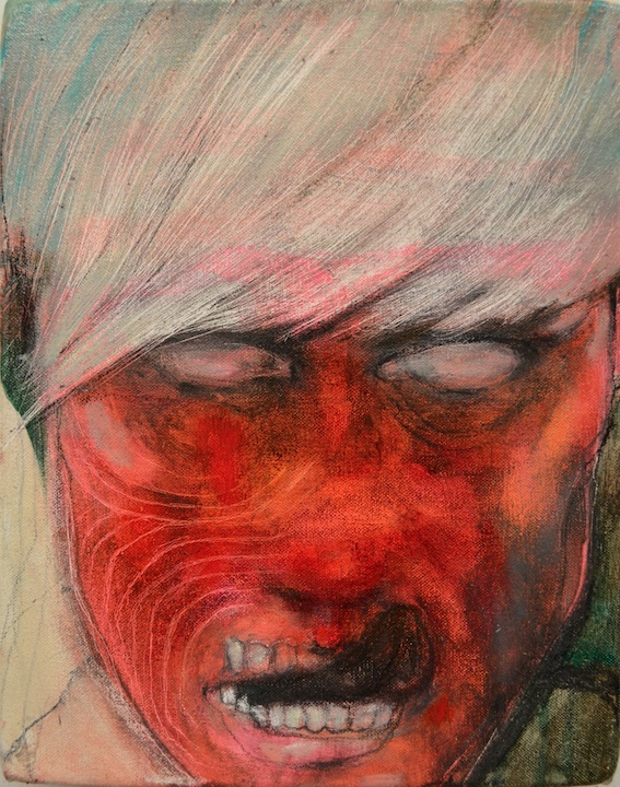 Cutter, 2012, Oil and pencil on canvas, 28 X 23 cm, SOLD