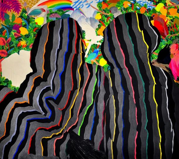 Preciosos Populares, 2011, Charcoal Pencil Policromhes on Paper, 60 X 70 cm, $500