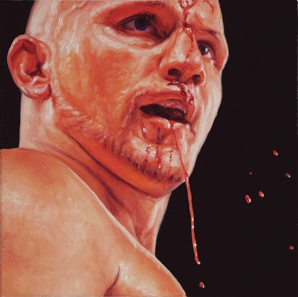Boxer 10, Oil on Canvas, 12 x 12 inches, 2011, $1500