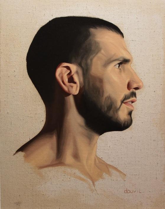 Profil de Marc, 2011, Oil on Board Canvas, 26 X 35 cm, Collection of La Petite Mort Gallery, $600