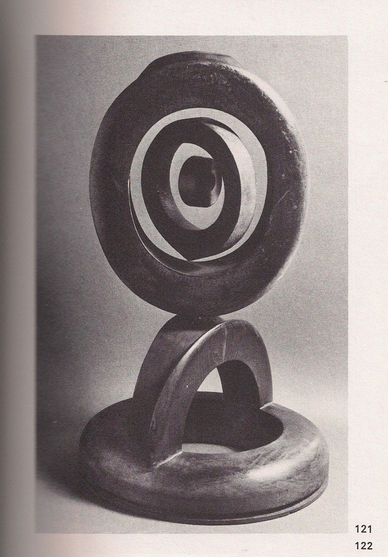 Original Image from 1970's catalogue. 'Top Hat Pendulum' Sculpture, Arthur Price 1970's. 'Top Hat Pendulum' 1970's. Arthur 'Art' Price, Found Wood Antique Hat Forms. 22 height x 13 width x 12 depth inches. One of a kind sculpture. Artist named stamped / see original photo from 1970's catalogue of the artist's artworks entitled 'Art Price. Happiness Is Where You Find It. Volume 2'.