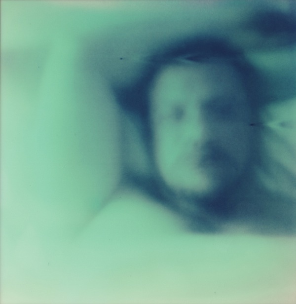 Diarmaid Falling Asleep, Hell's Kitchen, Digital C-Print from Unique 600 Type Polaroid, 15 x 15 inches, 2011,  $350