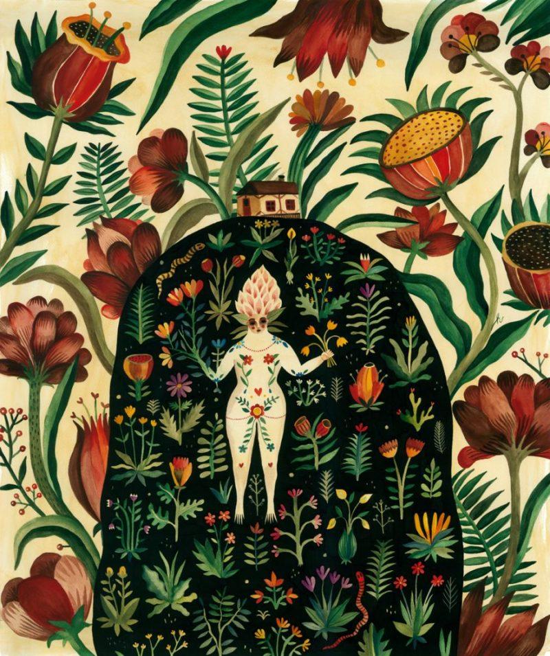 Aitch - Roots / 90 x 75 cm / watercolors on paper / 2014 / $900