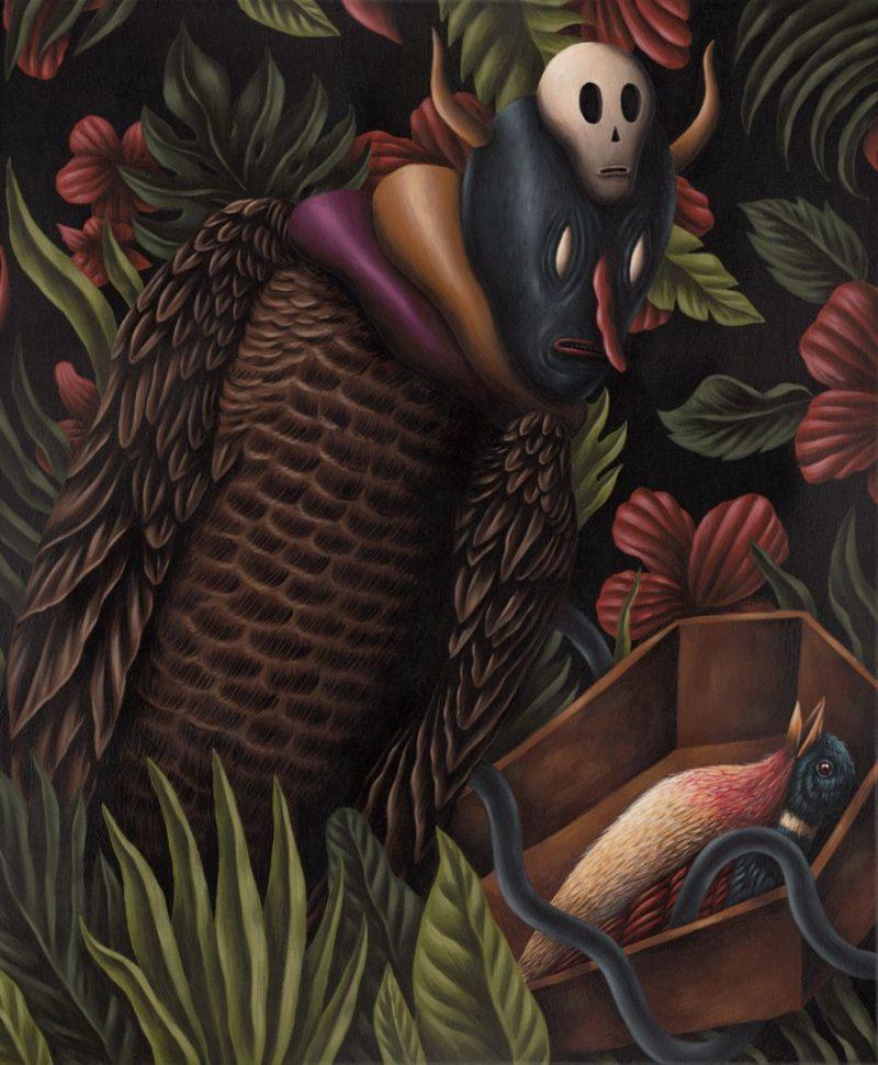Saddo - Coffin 4 / 46 x 55 cm / acrylics on canvas / 2014 / $900