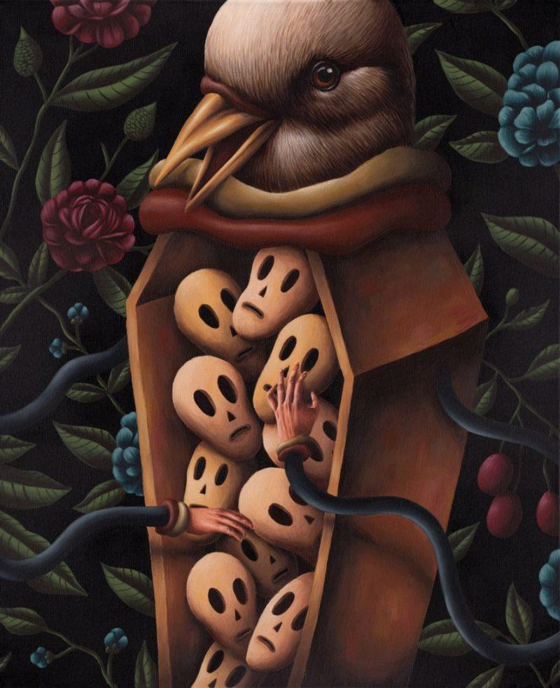 Saddo - Coffin 2 / 46 x 55 cm / acrylics on canvas / 2014 / $900