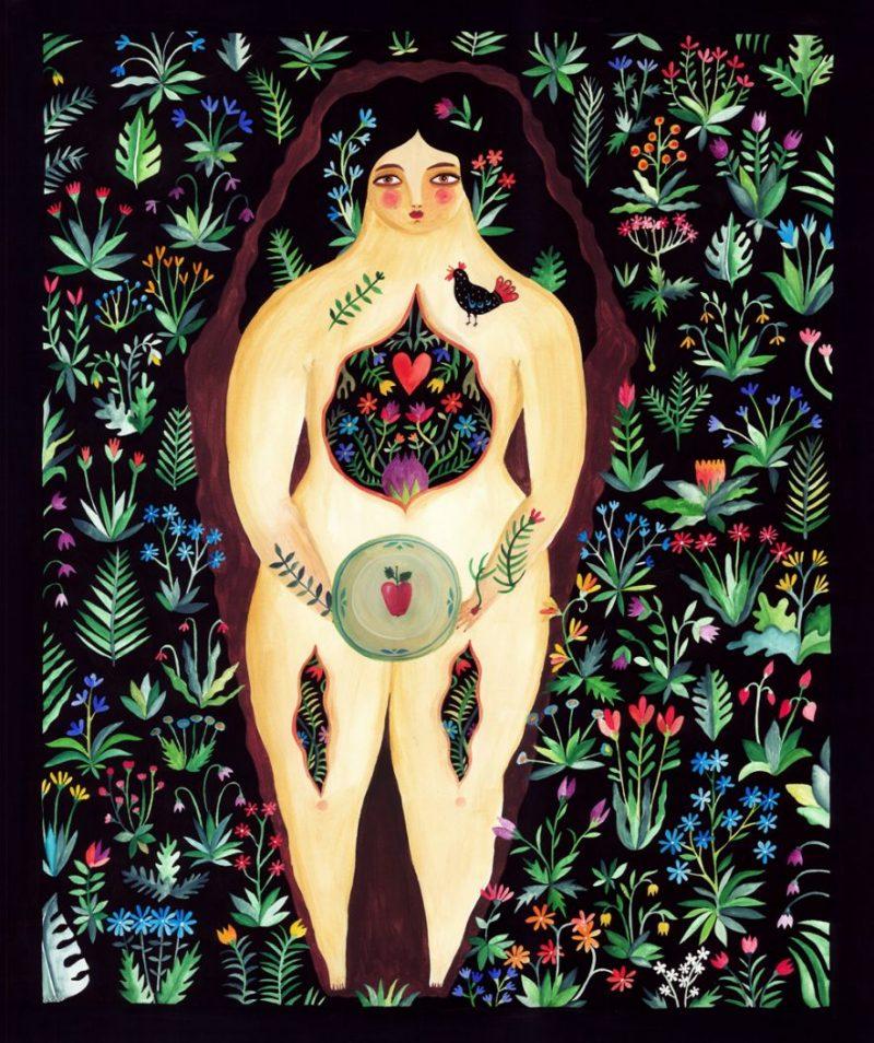 Aitch - Apple Tree / 90 x 75 cm / watercolors on paper / 2014 / $900