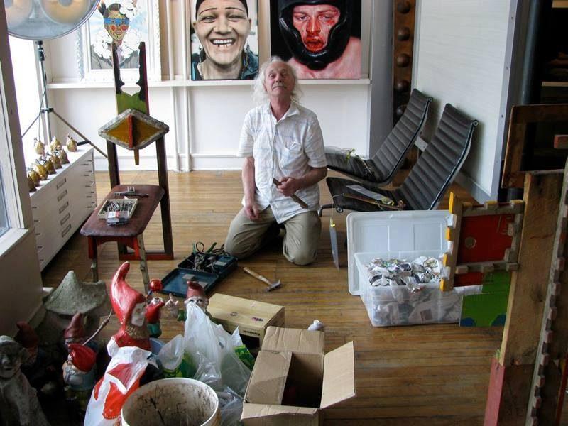 The artist Herman Ruhland, just kickin' it.