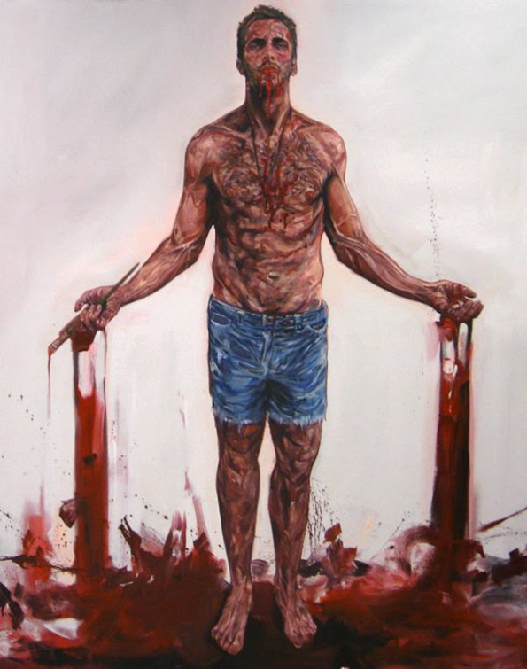 Stigmata, Oil on Canvas, (2009) 170cm x 150cm, Sold in collaboration with Beers Lambert Gallery, London England.