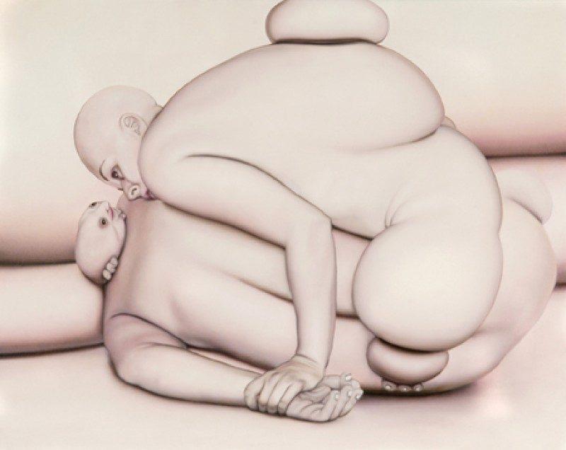 Peter Shmelzer (Ottawa, Canada), 'Lamentations for the Last Born', 2005, Oil on Canvas, 32 x 25 inches, SOLD.