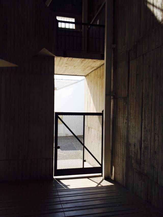 Entrance to the former prison, Parque Cultural de Valparaiso, Chile.