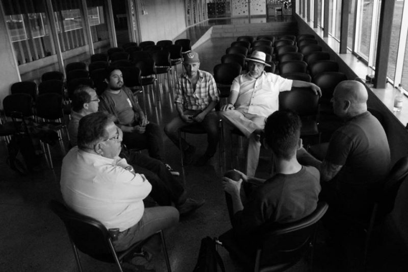 First meeting with several of the former political prisoners at Parque Cultural de Valparaiso, Chile.