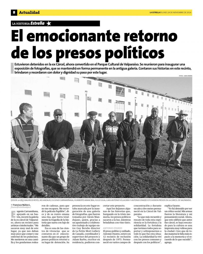 Press in Chile. Page 1.
