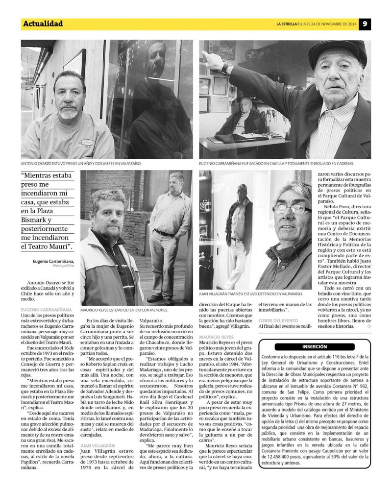 Press in Chile. Page 2.