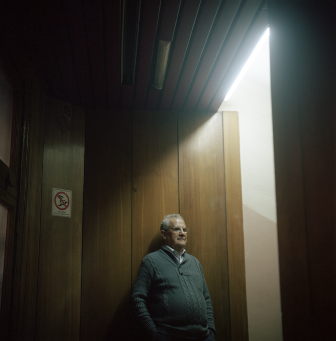 Portrait of Andres Reyes by Alexis Mandujano, 2014.