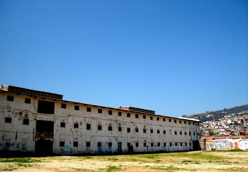 Original prison before reconstruction, Parque Cultural de Valparaiso, Chile.