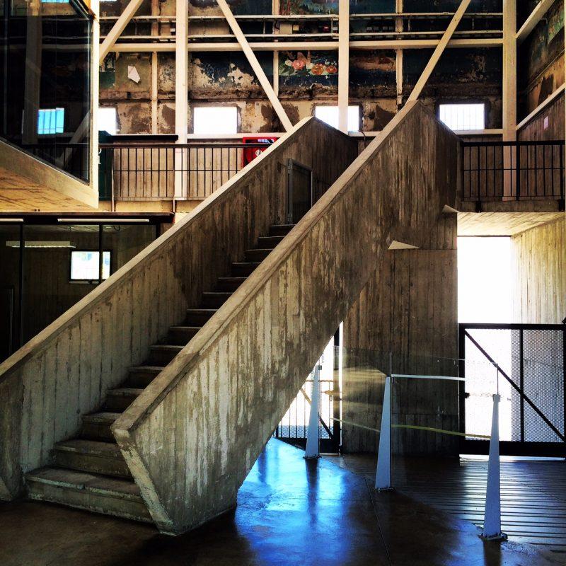 Interior of the former prison, Parque Cultural de Valparaiso, Chile.