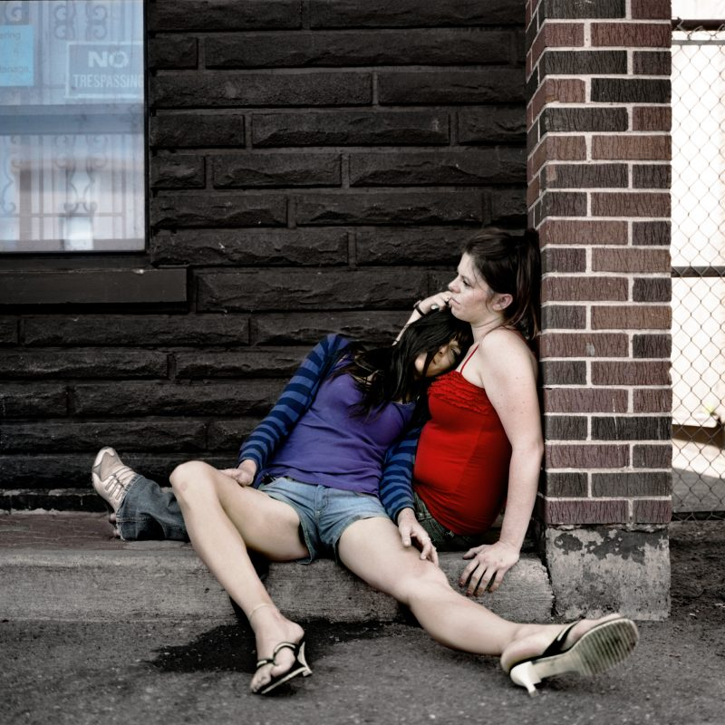 Kayla + Jennifer, USER Series, Photograph, 16 x 16 inches, Digital Archival Print, Limited Edition, 2010.
