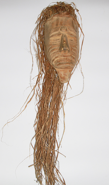 Baila Viejo / Dance Old Man, Old Man, Nacajuca, Tabasco, Carved wood, reeds, Circa 1990, 92 cm long x 15.5 cm wide
