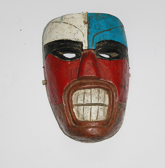 Todos Santos / All Saints' Day, Xantolo, Humotitla, Hidalgo, Polychrome carved wood, 21 cm long x14 cm wide, Circa 1960