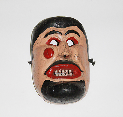 Semana Santa / Holy Week, Pharisee, San Vicente, San Luis Potosí, Polychrome carved wood, Circa 1960, 25 cm long x 18.5 cm wide