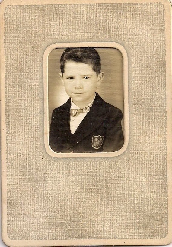 Young Boy with Bow Tie, Anonymous Black and White Photograph, 1950s, 1.75 x 1.4 inches, $5