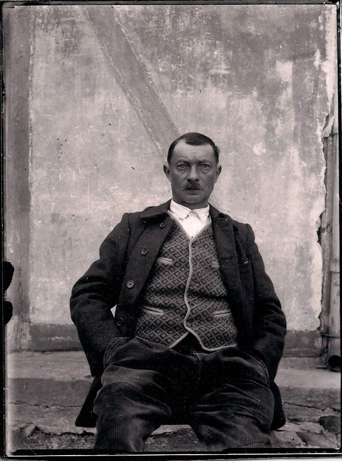 Anonymous, Man with Moustache, Silver Gelatin Photograph, 3.5 x 4.5 inches, $35.