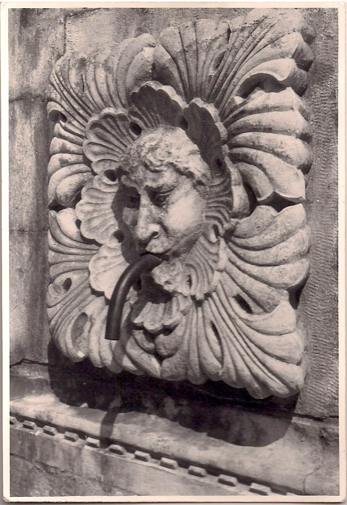 Anonymous, Fountain Sculpture, Silver Gelatin Print, 3.5 x 5 inches, $5.