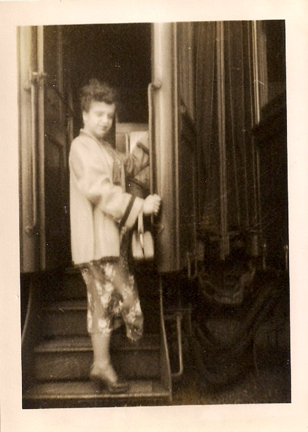 Anonymous, Stranger on the Train, Sepia-toned Silver Gelatin Photograph, 3 x 4.5 inches, circa 1950s, $25.