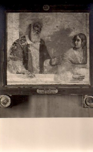 Anonymous, Religious Painting, (Venice, Italy) Vintage Silver Gelatin Photograph/Postcard, 3.5 x 5.5 inches, $10.