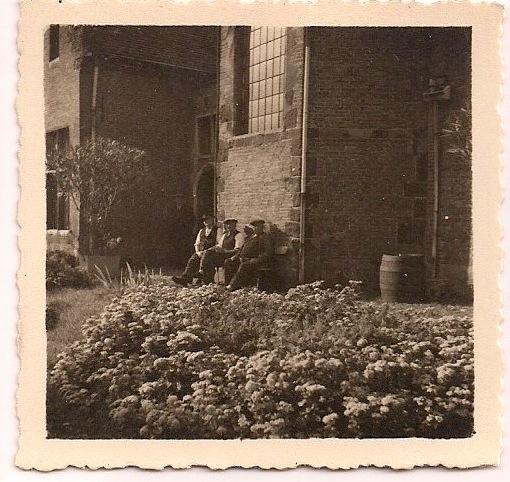 Anonymous, Three Men, Sepia-toned Silver Gelatin Photograph, circa 1930s, 2.5 x 2.5 inches, $10.