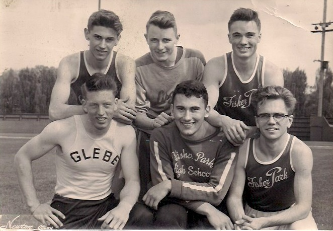 'Glebe / Fisher Park Boys', Anonymous Vintage Silver Gelatin print, 4.5 x 7 inches, 1950's, $45.