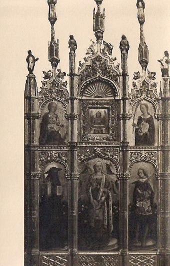 Vintage Italian Religious Art Silver Gelatin Postcard, Writing on Back, 1950's, 3.5 x 5.5 inches, $5.