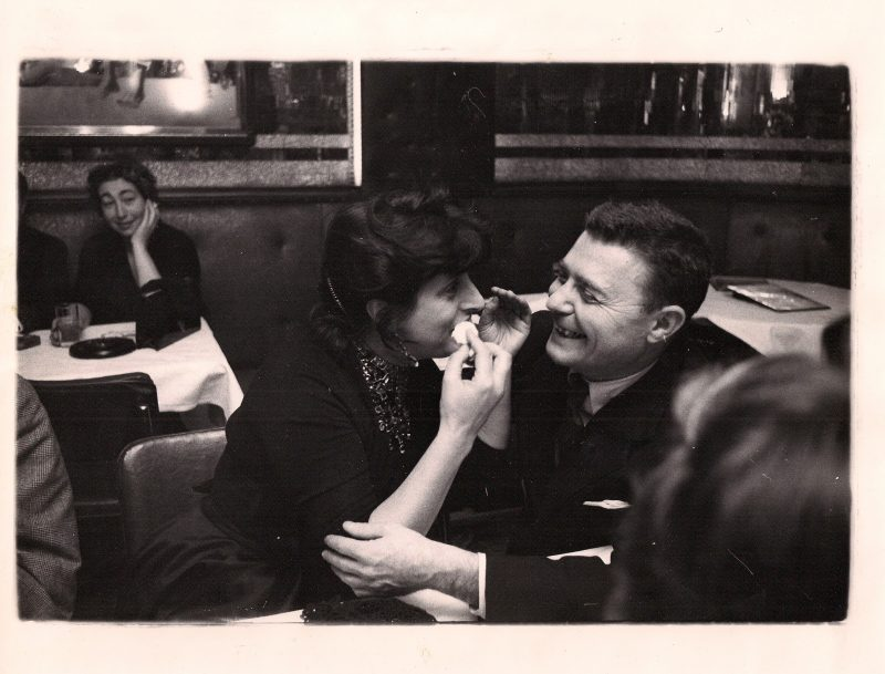Anonymous, Anna Magnani and Lover, (Italian Actress, Academy Award Winner for role in The Rose Tattoo with Burt Lancaster), Original Silver Gelatin Photograph, Stamped On Back 'Look Magazine, New York'. Circa 1950's. 8 x 10 inches. USD$450.