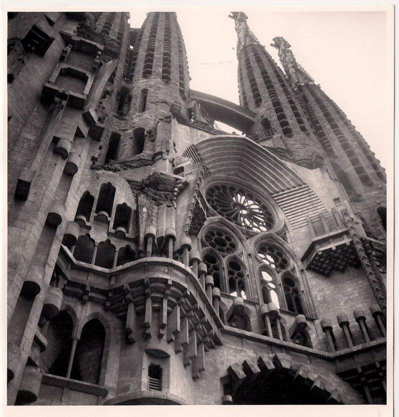 Jerome Hill, American Filmmaker and Artist (1905-1972). La Familia Sagrada, Barcelona, 1957. Silver Gelatin Photograph, 5 x 7 inches. $150