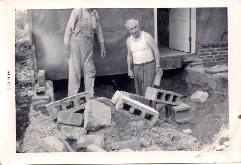 Anonymous, Giant and his Father, August 1963, Silver Gelatin Photograph, 5.25 x 3.5 inches. $15