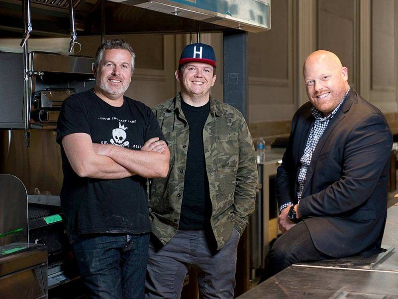 Chef/owners Matt Carmichael and Jordan Holley and general manager Craig Douglas expects to open their new restaurant called Riviera on Spark Street in July 2016. JAMES PARK / OTTAWA CITIZEN STYLE