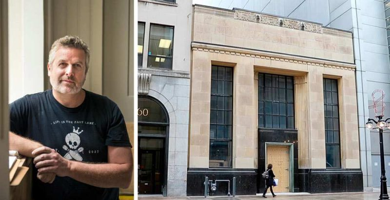 Chef/owner Matt Carmichael expects to open his new restaurant called Riviera on Sparks Street in June in the former Bank of British North America building. JAMES PARK / OTTAWA CITIZEN STYLE