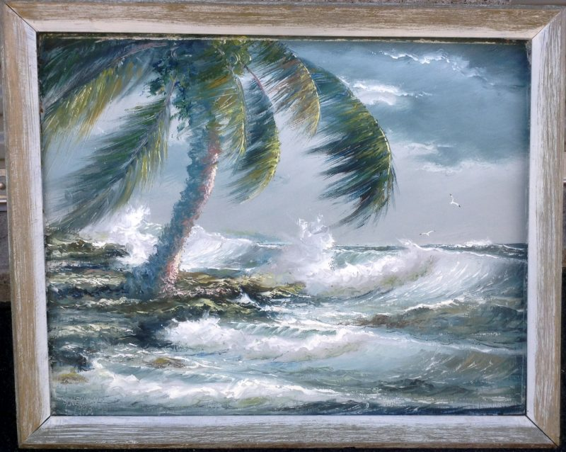 Sam Newton (Born 1948), Wild Surf Oil On Masonite, 51 X 61cm (Image), 70 X 80cm(Framed), 1972, Signed.