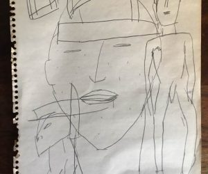 NYC Artist James Brown Drawing