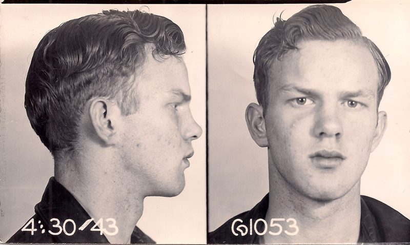 Digital Print, Photograph, Mug Shot, 1950's, Unknown Photographer, 4 x 5 inches, Printed on 8x10 inches mat paper, $45.