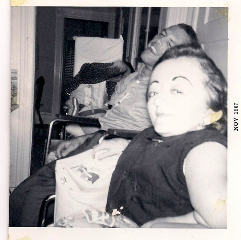 Anonymous, Man and Woman with Hooked Eyebrows, November 1967, Original was Silver Gelatin Photograph, 3.25 x 3.5 inches. Printed on 8x10 inches mat paper, $45.